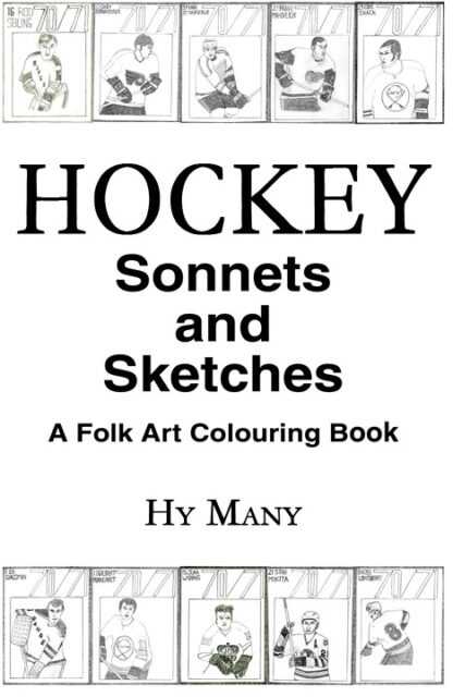 HOCKEY Sonnets and Sketches A Folk Art Colouring Book