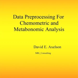 Data Preprocessing for Chemometric and Metabonomic Analysis